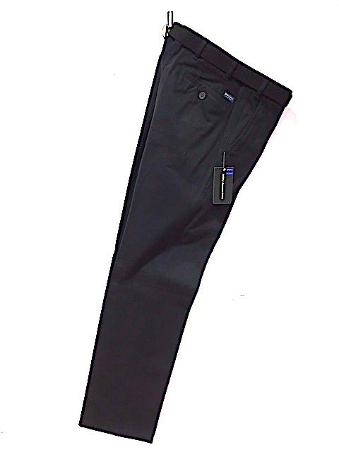BRUHL® MONTANA Cotton Stretch Trouser/Black - CORE SS20