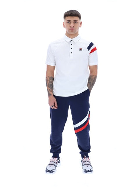 Fila® Gabriel Raglan Polo Shirt/White - New SS21