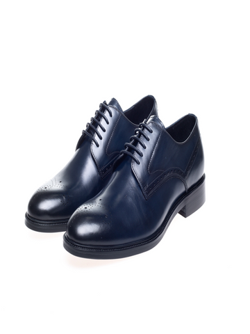 John White PEMBROKE Derby Shoes/Navy New AW19