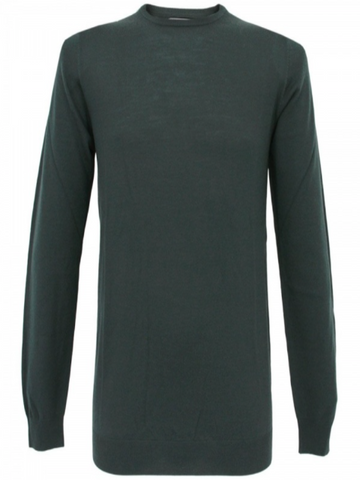 Matinique Margrate Merino Wool Crew Knit/Dark Green - New SS17