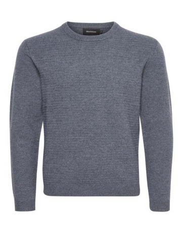 Matinique TRITON Lambswool Crew Knit/Med Grey Melange