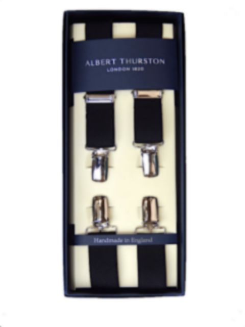 Albert Thurston 25mm Clip Braces/Black