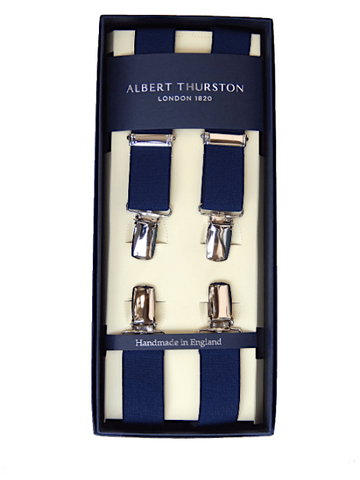 Albert Thurston 25mm Clip Braces/Navy