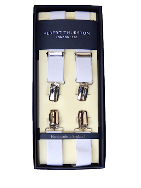 Albert Thurston 25mm Clip Braces/White