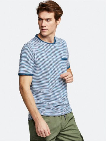 COLOURS & SONS 'Striped' Pocket T-Shirt - New SS20
