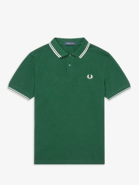 Fred Perry Twin Tipped Shirt/Ivy - AW20 CORE