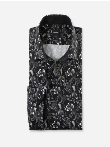 Olymp® Modern Fit Floral Shirt/Black - New AW20