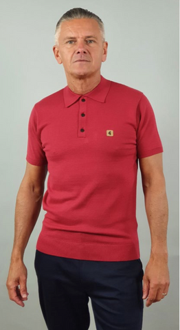 Gabicci Vintage Jackson Polo Shirt/Tayberry - New SS21