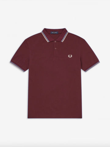 Fred Perry Twin Tipped Shirt/Mahogany - New SS20