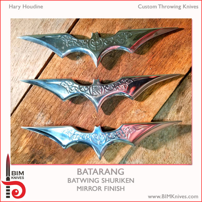 Batarang - Batwing Shuriken - Mirror Finish - set of 3 - Hary Houdine - Spin/Instinctive