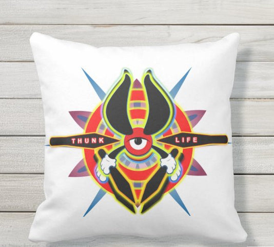 Throw Pillow - ThunkLife - Bullseye Burst / Double Sided