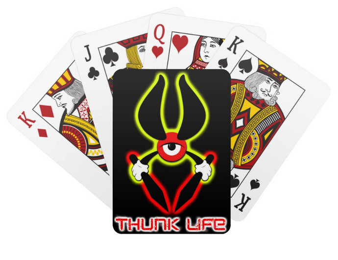 Playing Cards - THUNKLIFE - 52 Card Set - BULLSEYE on BLACK