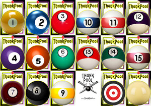 ThunkPool Deluxe Pack - Classic Balls (2) 18 Card Game Sets - Score & Tally Set - 9 Record Keeper Cards