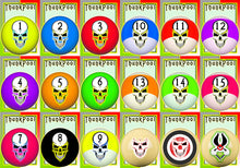Load image into Gallery viewer, ThunkPool Deluxe Pack - Skull Balls - (2) 18 Card Game Sets - Score & Tally Set - 9 Record Keeper Cards
