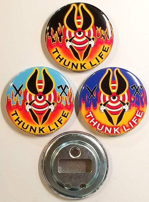 ThunkLife  ~ Magnet / Bottle Opener - BULLSEYE Fire & Sky / Set of 3
