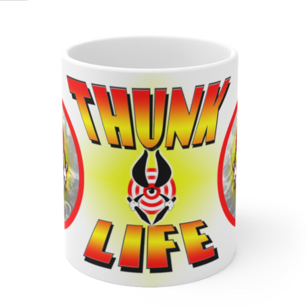 THUNK MUG - BULLSEYE Firelight - 11oz Ceramic Mug
