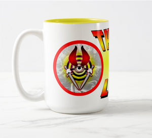 THUNK MUG - BULLSEYE Firelight - 15oz Two-Tone Mug