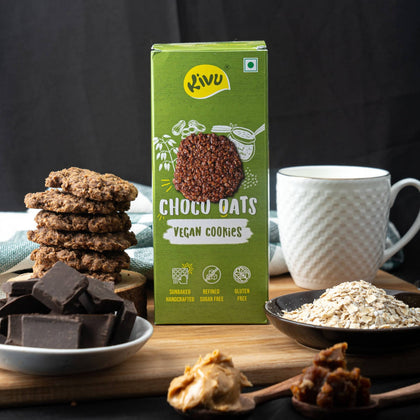 Kivu Choco Oats Vegan Gluten Free Cookies (Pack of 2)