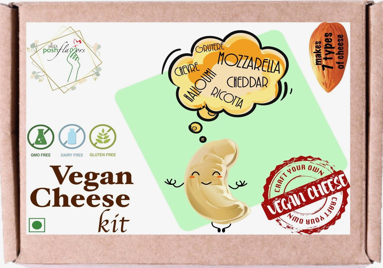 Vegan Cheese DIY Kit | Make Probiotic-rich Vegan Cheese at Home | Easy to Use, Dairy Free, Cruelty Free