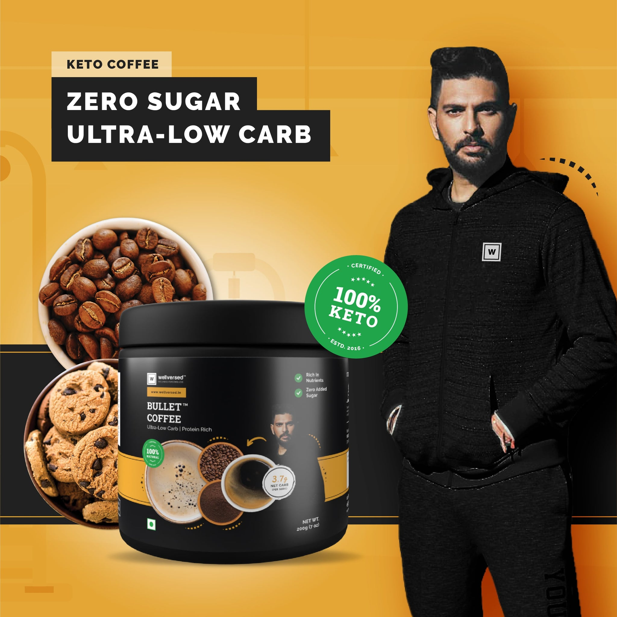 Ketofy - Bullet Coffee Mix | Ultra Low Carb