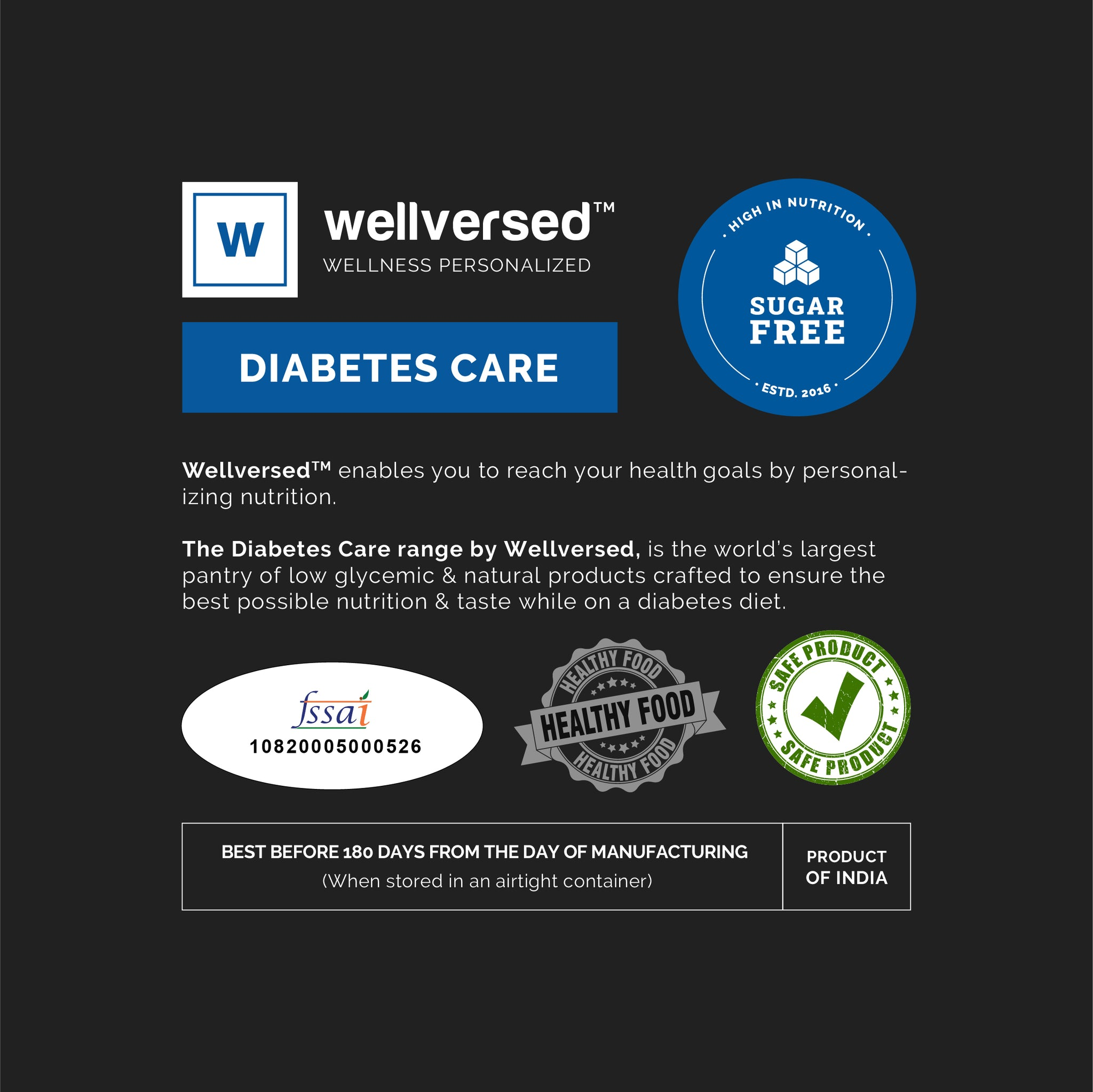 Wellversed - Diabetes Care Flour | Ultra Low Glycemic Index