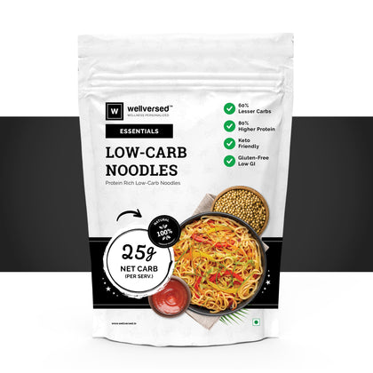 Wellversed Keto-Friendly Noodles (200g) | Low Glycemic, Low-Carb | Protein-Rich