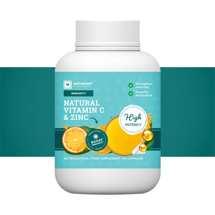 Vitamin C Immunity Booster | High Potency | Supplemented With Zinc