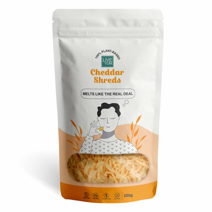 Vegan Cheddar Cheese Shreds (200g) | Dairy Free, Lactose Free, Cruelty Free