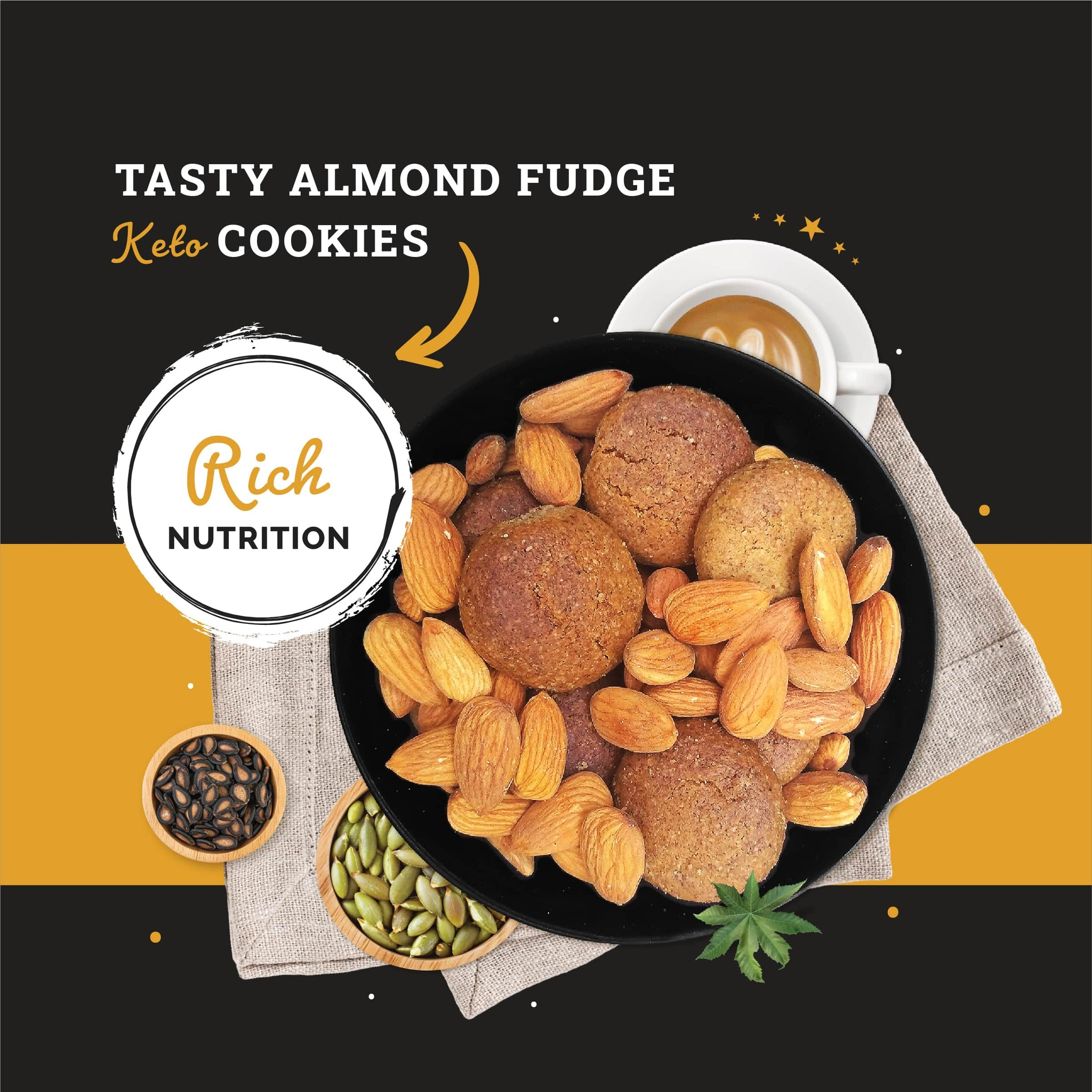 Ketofy Almond Fudge Cookies | Ultra Low Carb