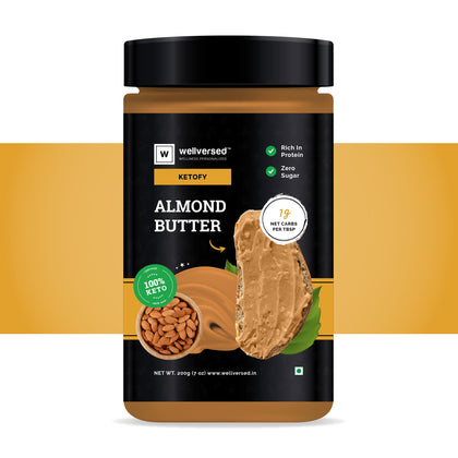Ketofy Almond Butter | 7% Net Carbs