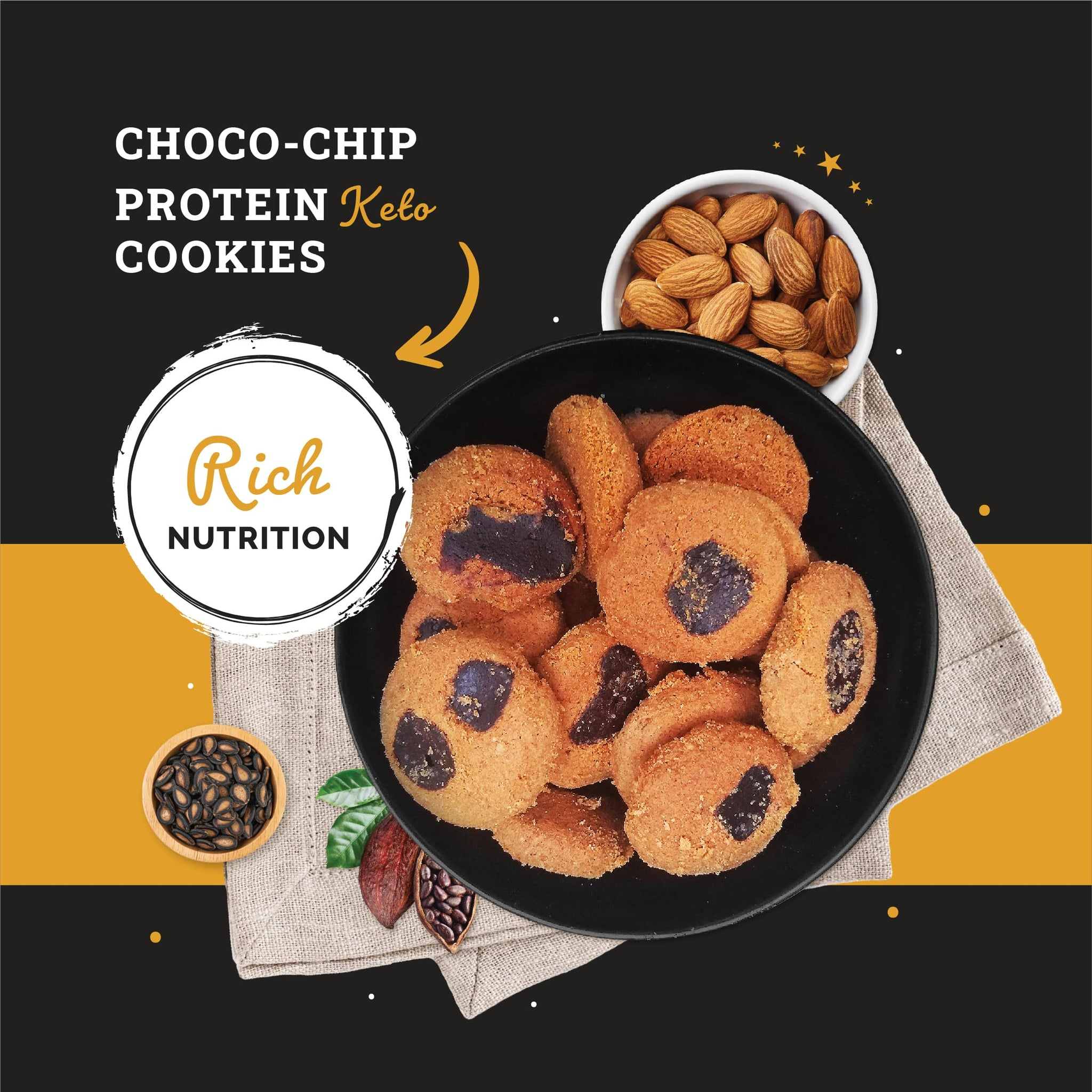 Ketofy Choco-Chip Protein Cookies | Ultra Low Carb