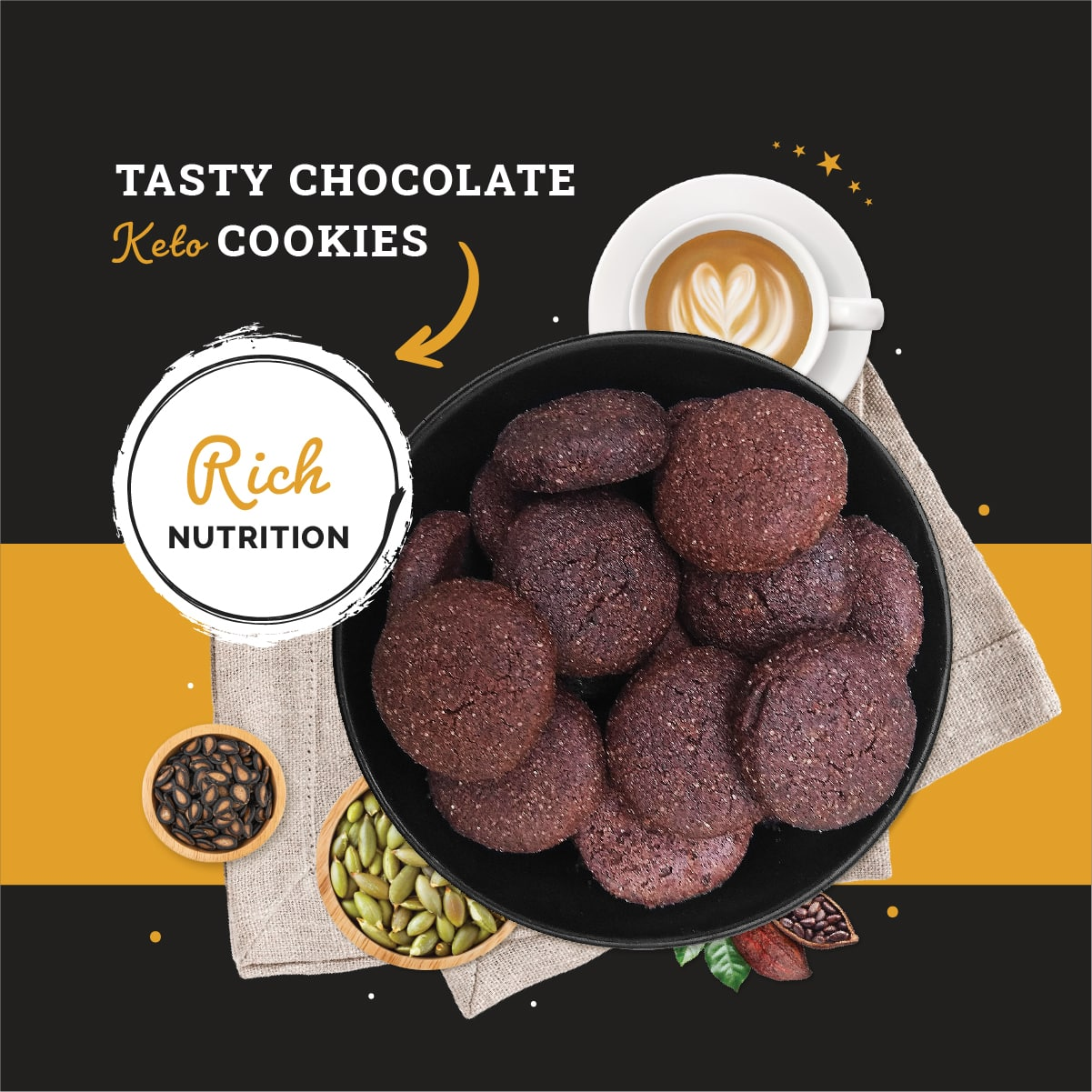 Ketofy Chocolate Cookies | Ultra Low Carb