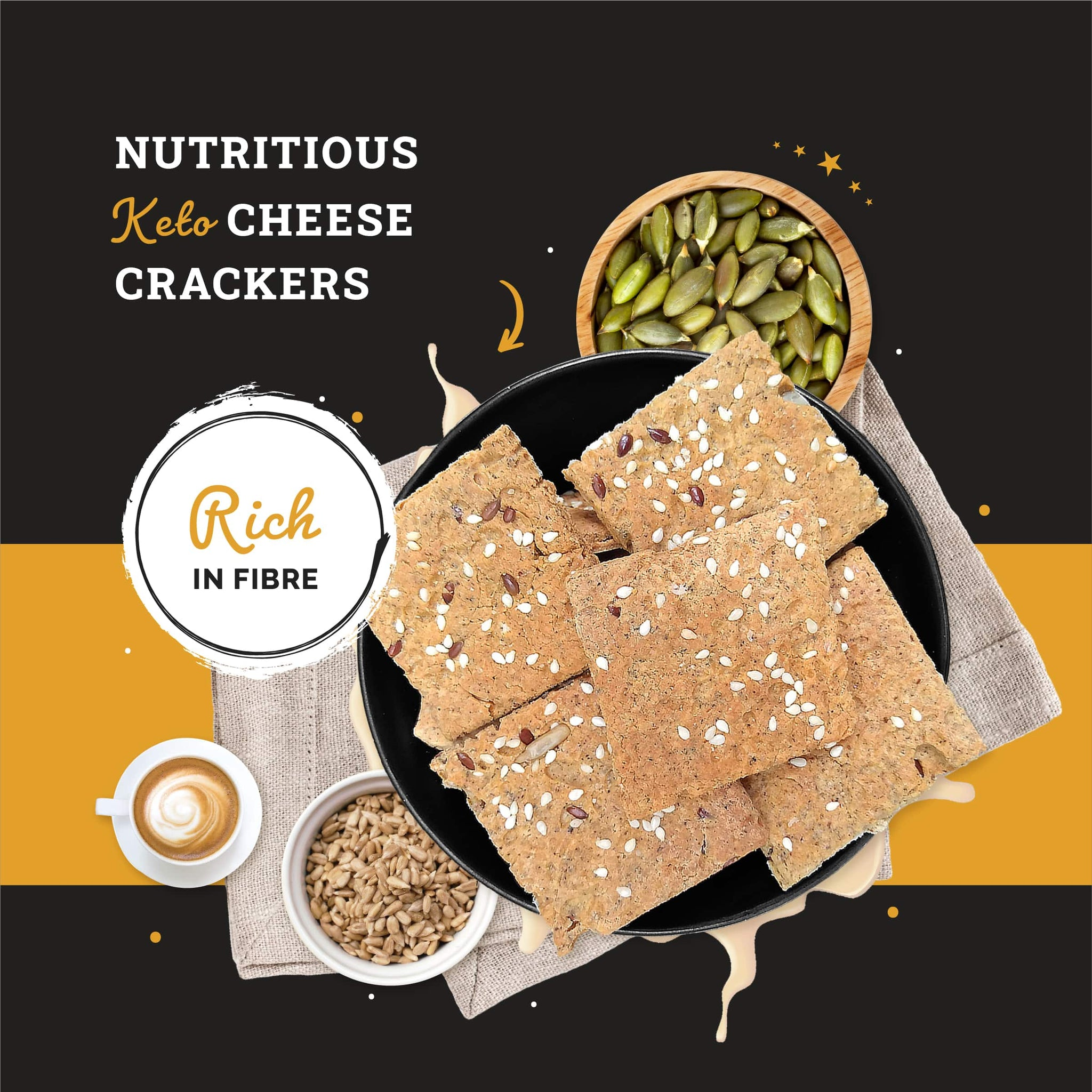 Ketofy Cheese Crackers | Ultra Low Carb