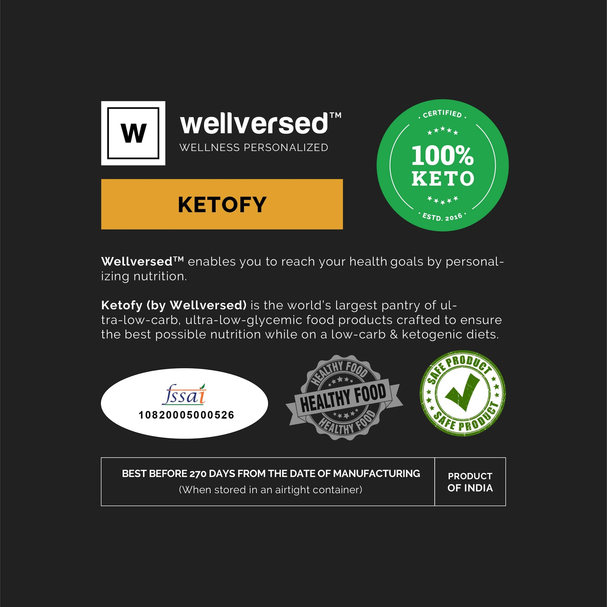 Ketofy Dietary Fibre | 7% Net Carbs