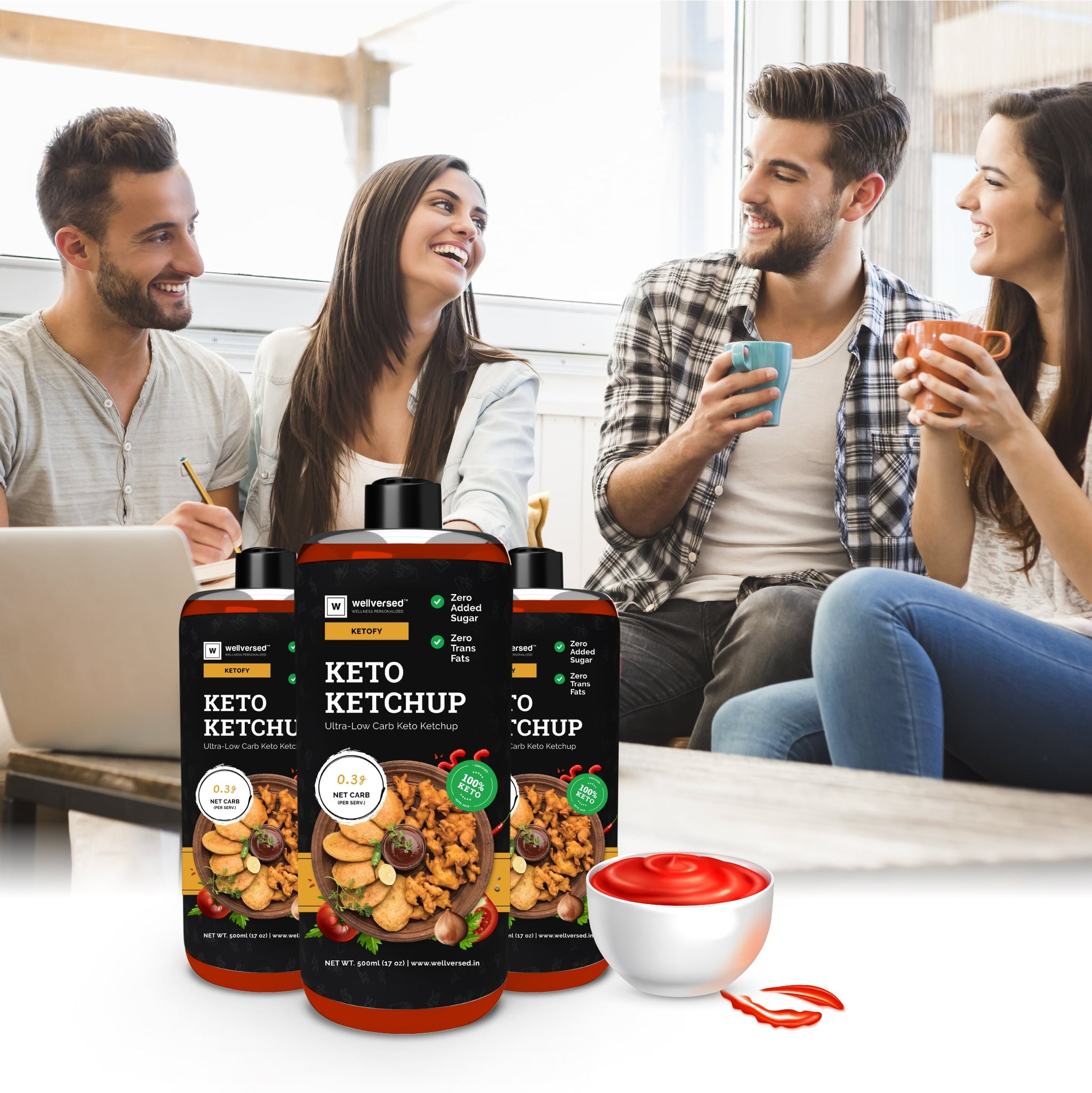 Ketofy Ketchup | Sugar Free | Ultra Low Carb