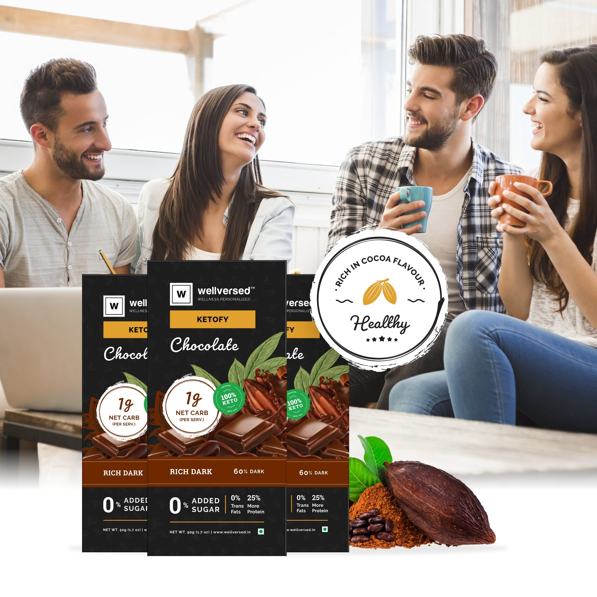Ketofy - Dark Keto Chocolate | Sugar Free