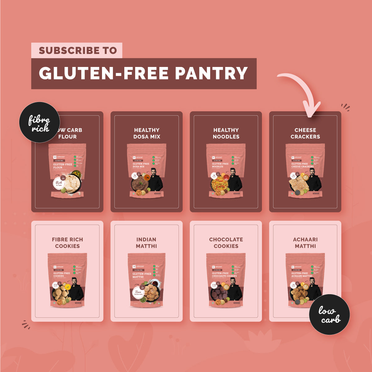 Gluten-Free Pantry | Bundle Of 8 Daily Use Gluten-Free Products