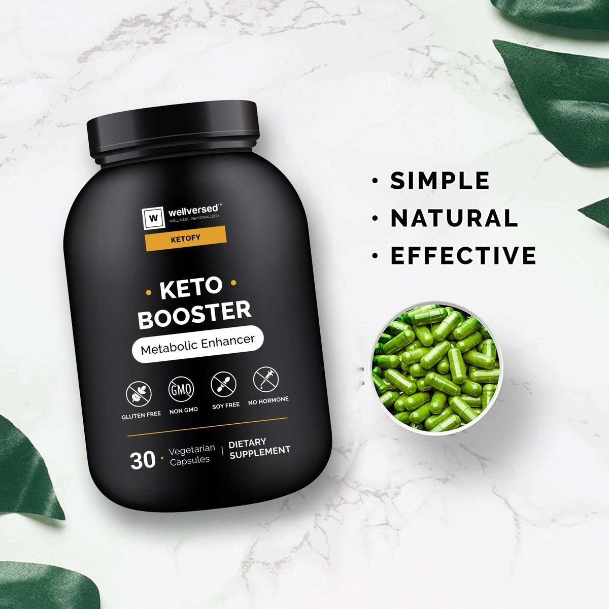 Ketofy - Keto Boosters (30 Pills) | Advanced Weight Management Supplement | Natural Fat Burner, Metabolism Booster