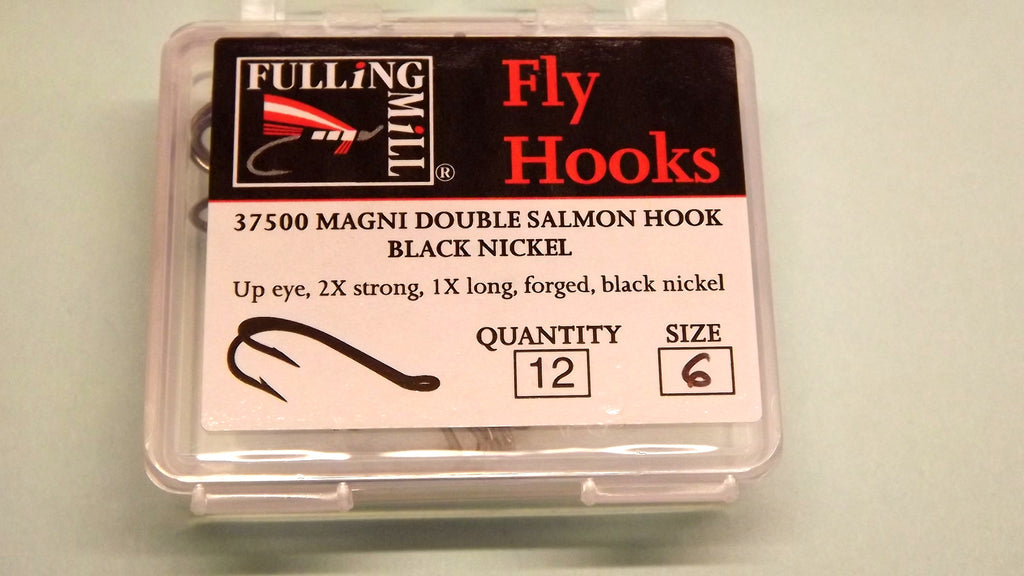 MAGNI Double Salmon Hooks 12 per  Pack in BLACK, GOLD, SILVER from Fulling Mill