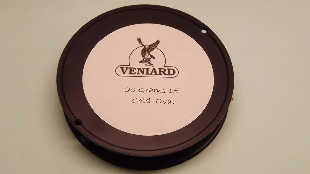 Veniards Bulk 20 HGram Reel of Oval Tinsels in Gold & Silver