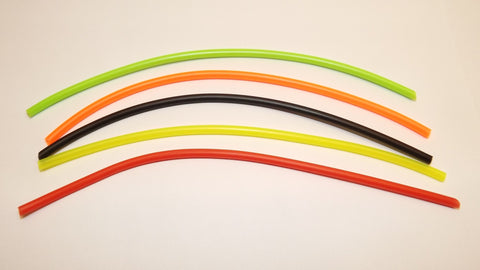 7 PIECES OF NEW COLOURED SILICONE EXTENSION TUBING FOR HOLDING HOOKS INTO TUBES SIZE 2.00mm