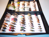 100 Assorted Single Dry Wet anf Nymph Fishing Flies Ideal XMAS GIFT FROM FLYMAKERS