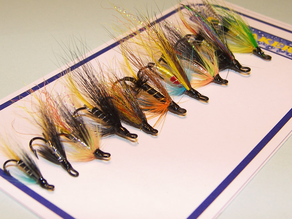 10 Assorted Quality Scottish SALMON Low Water FISHING FLIES From Flymakers