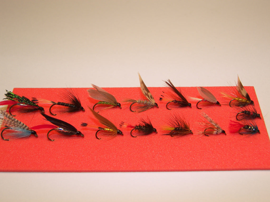 15 SINGLE Wet TROUT FLIES in a Blister Pack would make a ideal GIFT from FLYMAKERS