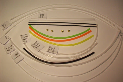 A selection of 17 sample pieces of Assorted Tubing in sizes and Types