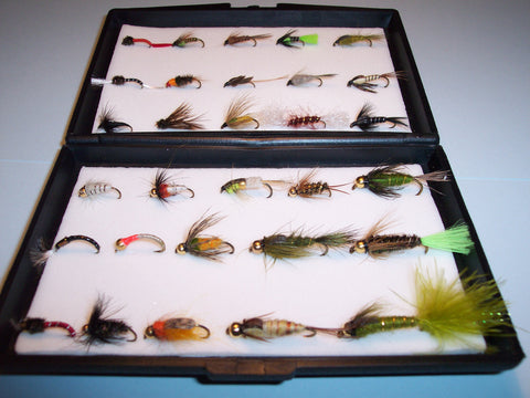 30 NYMPH Single Trout Flies Packed in a free Fly Box IDEAL XMAS GIFT from Flymakers