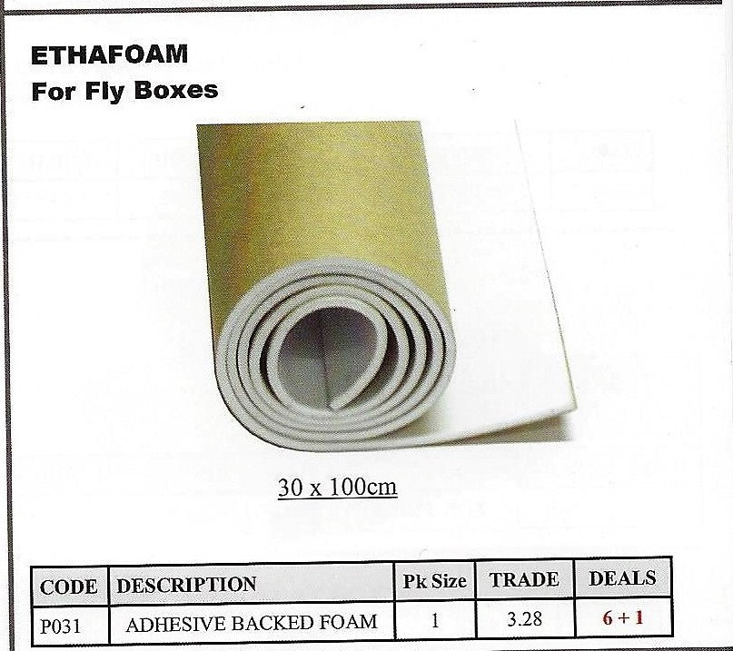 Ethafoam Sheets Adhesive Backed for Replacing The Foam Lining in Fly Boxes