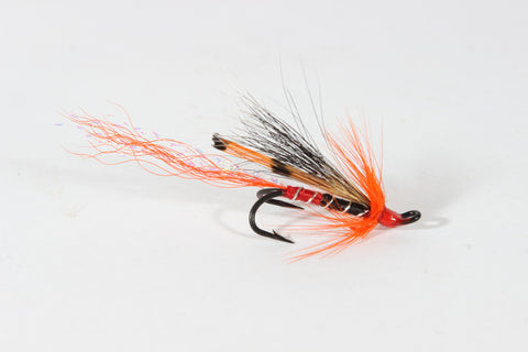 SET OF 3 ALLY'S SHRIMPS OR 3 CASCADE SHRIMP DOUBLE LOW WATER HAIR WING SALMON FLIES