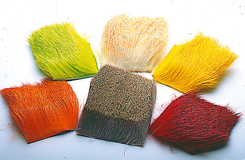 Deer Hair Packet Plain Dyed Assorted Colours