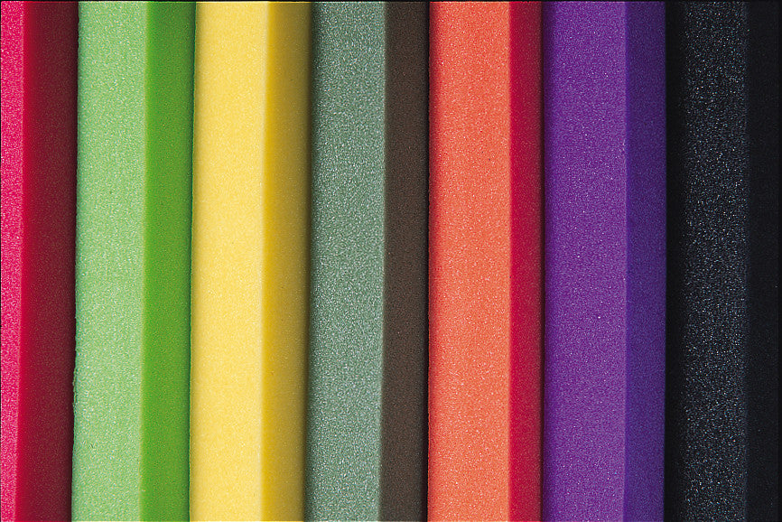 Micro-Cellular Platazote Foam Blocks Assorted Colours